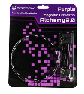 BITFENIX Alchemy 2.0 Magnetic LED-Strip - 30cm, 15 LEDs, violett (BFA-MAG-30PK15-RP)