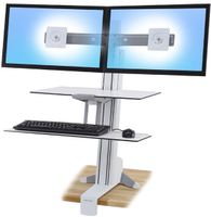 ERGOTRON WORKSURFACE & LARGE KYBD TRAY DUAL SIT-STAND BRIGHT WHITE (33-349-211)
