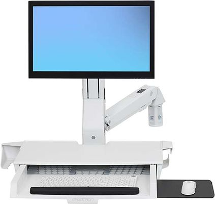 STYLEVIEW SIT-STAND COMBO ARM WORKSURFACE BRIGHT WHITE
