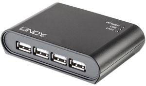 USB 2.0 Gigabit Network Server 4 Port