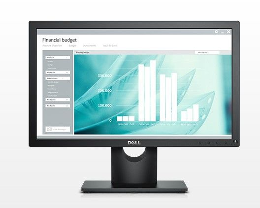 "Dell E1916H LED LCD 18.5/"" Widescreen Monitor w//VESA-Mount//Tilt Options VGA//DP"