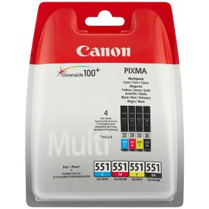 CANON CLI-521 C/M/Y/BK PHOTO VALUE BL WITH SECURITY SUPL (2933B011)