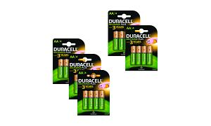 5 x AA Duracell Rechargeable 4 Pack
