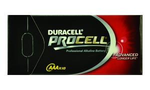 DURACELL 1 Pack of 10 Cells PROCELL AAA (MN2400-BULK10)