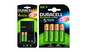 DURACELL 4 Hour Charger + 6 AA Batteries (BUN0081A)
