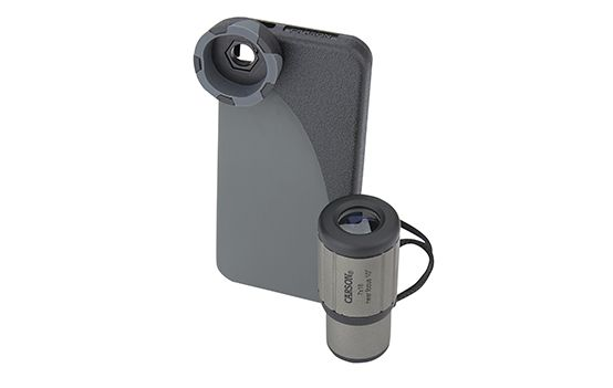 Carson HookUpz 7x18 CloseUp Monocular with iPhone 5 Adapter