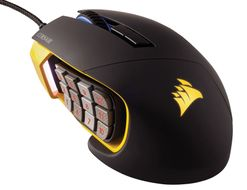SCIMITAR RGB Gaming Mouse MOBA/MMO, Optical, yellow