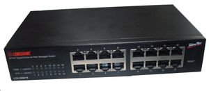 Switch 16x GE GS8416 Web Smart SNMP (Fanless)