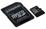 KINGSTON 32GB microSDHC Canvas Card+SD Adapter (SDCS/32GB)