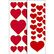 HERMA Sticker Decor hearts red