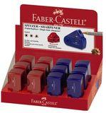 FABER-CASTELL Pennvässare F-C mini sleeve röd/blå