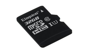KINGSTON 32GB microSDHC Canvas Select 80R CL10 (SDCS/32GBSP)