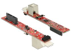 62651 - Slim SATA 13-pin till USB 2.0 Typ B ho adapter
