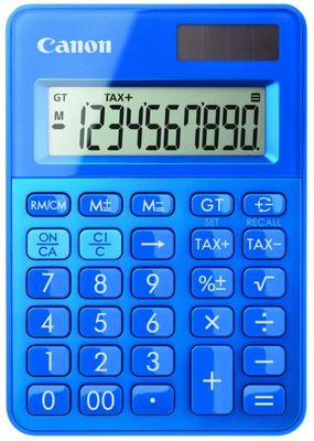 LS-100K-MBL mini pocket calculator blue