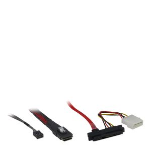 INTER-TECH Kabel Inter-Tech SFF 8087 - 4x SFF 8482 / SATA Power (88885001)