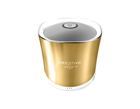 WOOF3 Wireless Speaker Bluetooth Gold