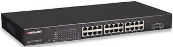 Net Switch 1000T 24P PoE+ (2 SFP-Ports) [bk]