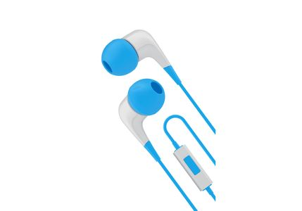 CYGNETT Wired headphones w/ built-in mic White/ Blue (CY1720HEWIR)