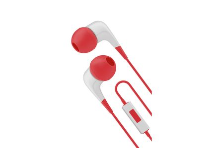 CYGNETT Wired headphones w/ built-in mic White/Red (CY1721HEWIR)