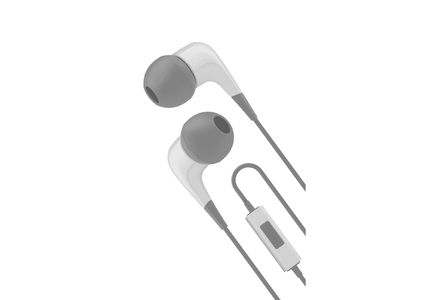 CYGNETT Wired headphones w/ built-in mic White/ Grey (CY1722HEWIR)