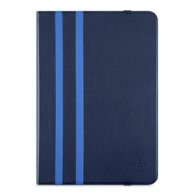 "Twin Stripe Folio 10""-Dark Blue iPad Air/Air 2, Tab A 9.7"", Tab S2 9.7"""