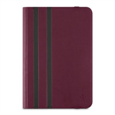 Universal 8'' Twin Stripe Tablet Cover, dark red