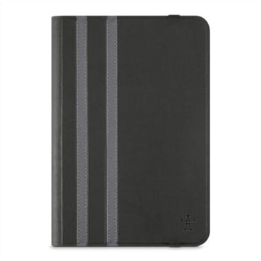 "Twin Stripe Folio 8"" - Black iPad mini/ 2/ 3/ 4,  Tab A 8"", Tab S2 8"""