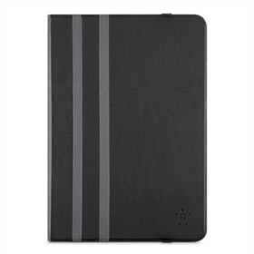 "Twin Stripe Folio 10"" - Black iPad Air/Air 2, Tab A 9.7"", Tab S2 9.7"""