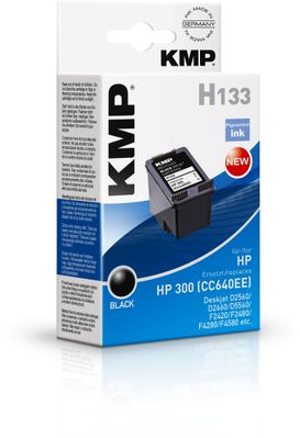 H133 ink cartridge black compatible with HP CC 640 EE