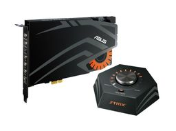 STRIX RAID DLX 7.1 PCIe gaming sound card set with an audiophile-grade DAC and 124dB SNR
