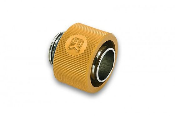 EK-ACF 12/16mm - Gold Fitting Thread: G1/4, Tubes: 11.1/ 15.9mm - 12/16mm, Height: 15.6mm