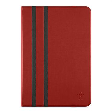 "Twin Stripe Folio 10""-Bright Red iPad Air/Air 2, Tab A 9.7"", Tab S2 9.7"""