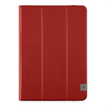 "Trifold Folio 10"" - Bright Red iPad Air/Air 2, Tab A 9.7"", Tab S2 9.7"""
