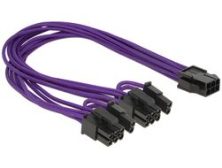 adapterkabel,  6-pin PCI-Express till 2x8-pin PCI-Express,  0,3m