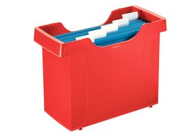 Suspension file unit Plus w/5 file red