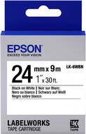 EPSON LABEL CARTRIDGE STANDARD LK-6WBN BLACK/ WHITE 24MM (9M) SUPL