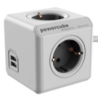 PowerCube Extended USB incl. 1,5 m Cable grey Type F