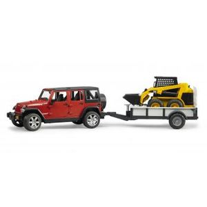 BRUDER Jeep with Trailer and CAT (33107617)