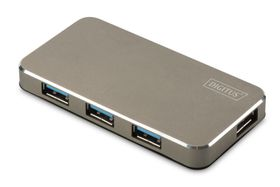 USB 3.0 OFFICE HUB 4-PORT INCL. POWER SUPPLY BLACK/ MATT DLAN