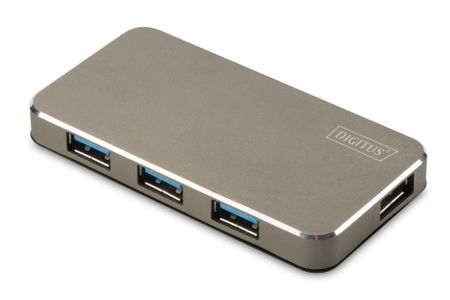 ASSMANN Electronic USB 3.0 OFFICE HUB 4-PORT INCL. POWER SUPPLY BLACK/ MATT DLAN (DA-70240)