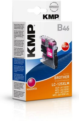 B46 ink cartridge magenta compatible to Brother LC-125XLM