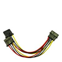 Adapter 1x 4pin -> 2x 4pin Molex 0,15m