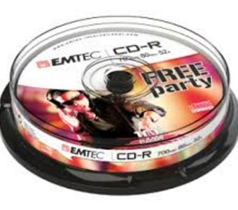 EMTEC disc CD-R [ cakebox 10 | 700MB | 52x ] (ECOC801052CB)