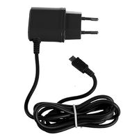 (TRAVEL CHARGER 1A MICROUSB BK)