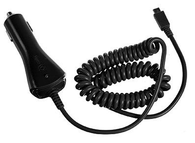 (CAR CHARGER 1A MICROUSB BK)