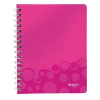 Notepad WOW PP A5 w/holes ruled 80s pink
