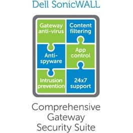 SONICWALL Gateway Anti-Malware, Intrusion Prevention and Application Control for TZ 400 - Abonnementslisens (4 år) - 1 apparat - for SonicWall TZ400 (01-SSC-0537)