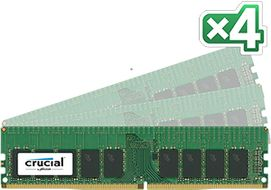 4x16GB 2400MHz DDR4 CL17 SR x4 DR x8 ECC Registered DIMM 288pin