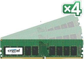 64GB KIT 16GBX4 DDR4 2133 MT/S CL15 DRX8 ECC UNBFRD DIMM 288PIN