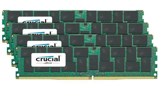 Crucial 4x32GB 2400MHz DDR4 CL17 QR x4 Load Reduced DIMM 288pin